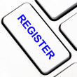 Register button on keyboard — Stock Photo #11952380