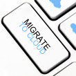 Migrate to cloud button on keyboard — Stock Photo #11952381