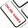 Online games button on keyboard — Stock Photo