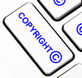 Copyright button on keyboard — Stock Photo