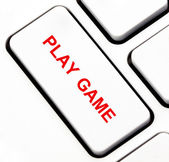 Play game button on keyboard — Stock Photo