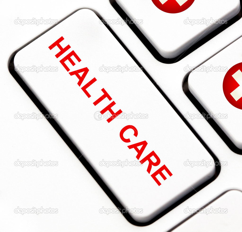 Health care button on keyboard — Stock Photo #11952372