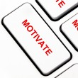 Motivate button on keyboard — Stock Photo