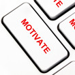 Stock Photo: Motivate button on keyboard