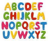 Alfabetet bokstäver — Stockvektor