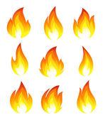 Collection d'icônes de feu — Vecteur