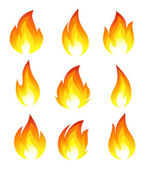 Collection of fire icons — 图库矢量图片