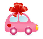 The Valentine's car. — Stock Vector