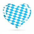 Stock Vector: Bavariflag as Heart icon