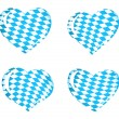 Bavaria flag as Heart icons - Stock Vector