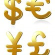 Royalty-Free Stock Vector Image: Euro, dollar, pound and yen symbols