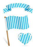 Bavyera bayrak simge kümesi — Stok Vektör