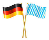 Germany and Bavaria flags icon — Stock Vector