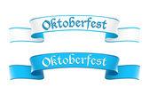 Oktoberfest afiş bavyera renkleri — Stok Vektör