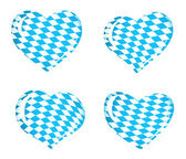 Bavaria flag as Heart icons — Stock Vector