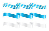 Ribbons in bavarian colors — Stock Vector