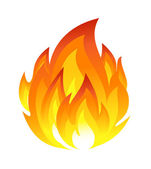 Symbol of fire — Stock Vector
