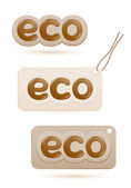 Set of labels eco sign — Stock Vector