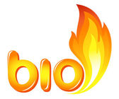 Bio sign with fire flames — Stock Vector