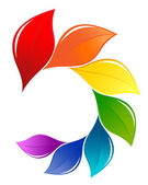 Natur-design-element im spektrum farben — Stockvektor