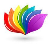 Elemento di design natura in colori arcobaleno — Vettoriale Stock