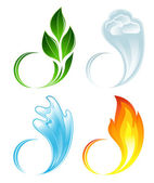 The four elements of life — Stock Vector