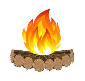 Wooden camp fire — Stock Vector