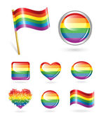Set of rainbow buttons — Stock Vector