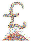 Confettis sterling symbole sur fond blanc isolé. vector-il — Vecteur