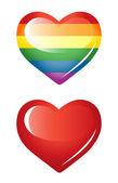 Set of hearts, rainbow heart. — Stock Vector
