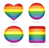 Conjunto de botões de arco-íris — Vetorial Stock