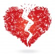 Broken heart — Stock Vector