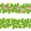 Two clover leafs banners — Stock Vector #11933214