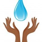 Water-drop and hands — Stock Vector #11934494