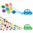 Two design elements with car. Vector-Illustration - Stock vektor