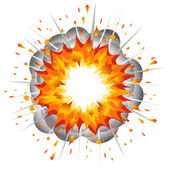 Explosion. — Stock Vector