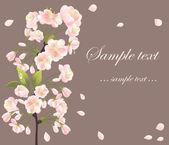 Background with sakura tree — Stock Vector