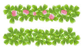 Two clover leafs banners — Stock Vector
