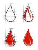 Sketch of blood drop — Stock Vector
