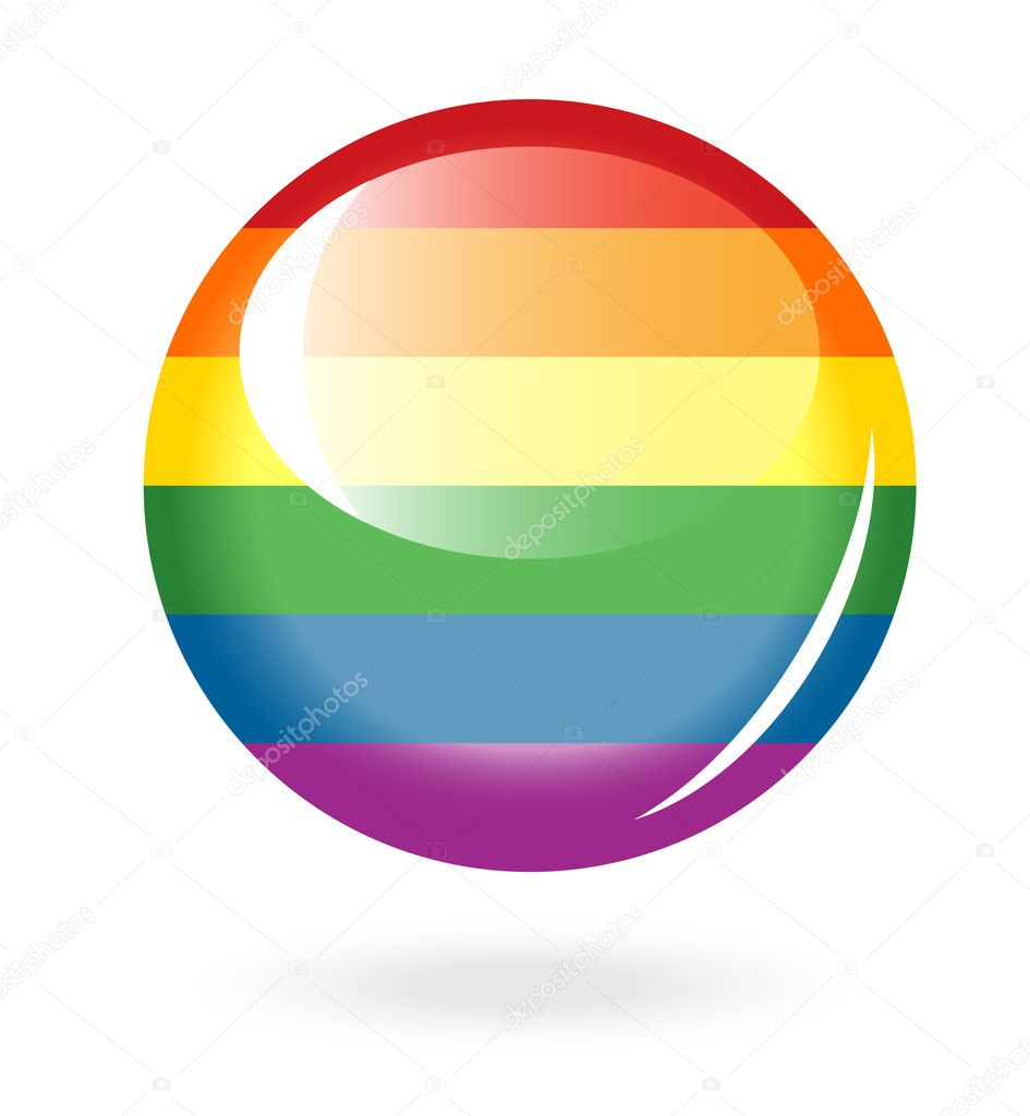 Rainbow button — Stock Vector #11933420