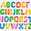 Alphabet letters — Stockvectorbeeld