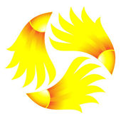 Symbol of sun. Vector-Illustration — Stock Vector