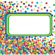 Colorful confetti frame. Vector Illustration — Stock Vector