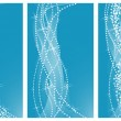 Royalty-Free Stock Imagen vectorial: Set of blue background desigs. Vector Illustration