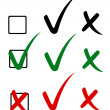 Royalty-Free Stock Immagine Vettoriale: Check mark, tick and cross. Vector illustration