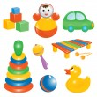 Baby toy icon set. Vector-Illustration — Stock Vector