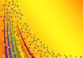 Colorful confetti background. Vector Illustration — Vector de stock