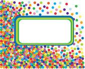 Färgglada konfetti ram. vektor illustration — Stockvektor