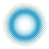 在蓝色的斑点的背景。矢量插画 — 图库矢量图片