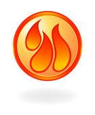 Flame symbol. Vector illustration — Stock Vector